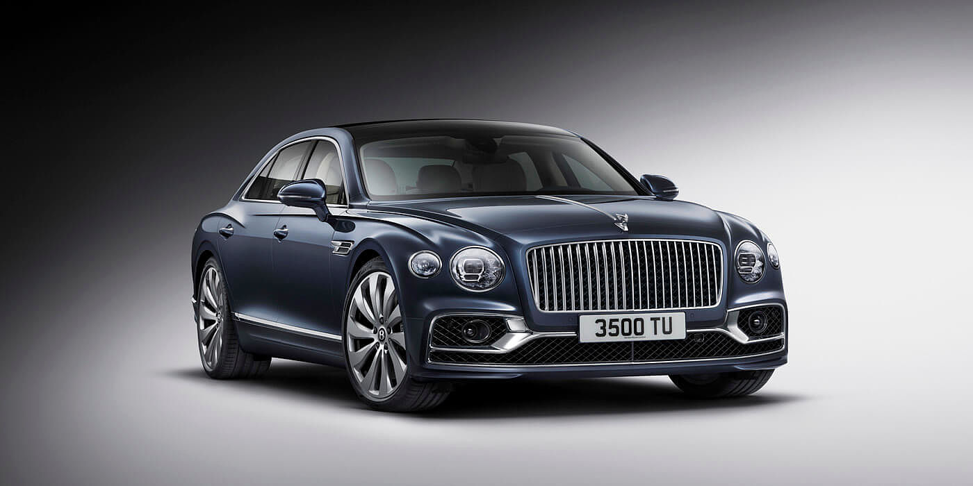 bentley-new-flying-spur-front-three-quarters-studio-in-meteor-blue-paint